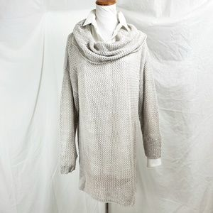 Soft Surroundings Size L Sweater Tunic Cowl Neck